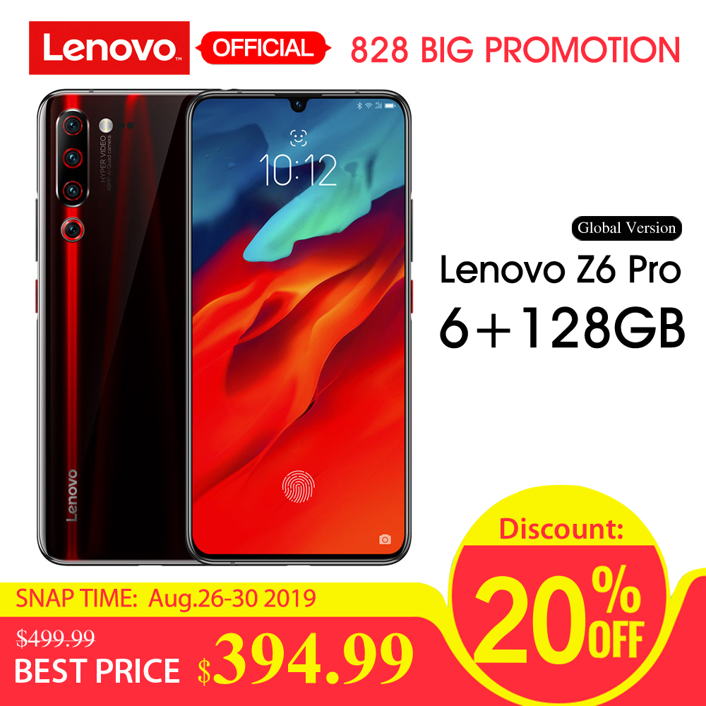 Global Version Lenovo Z6 Pro 6GB + 128GB 4000mAh Snapdragon 855 Mobile Phone 6.39