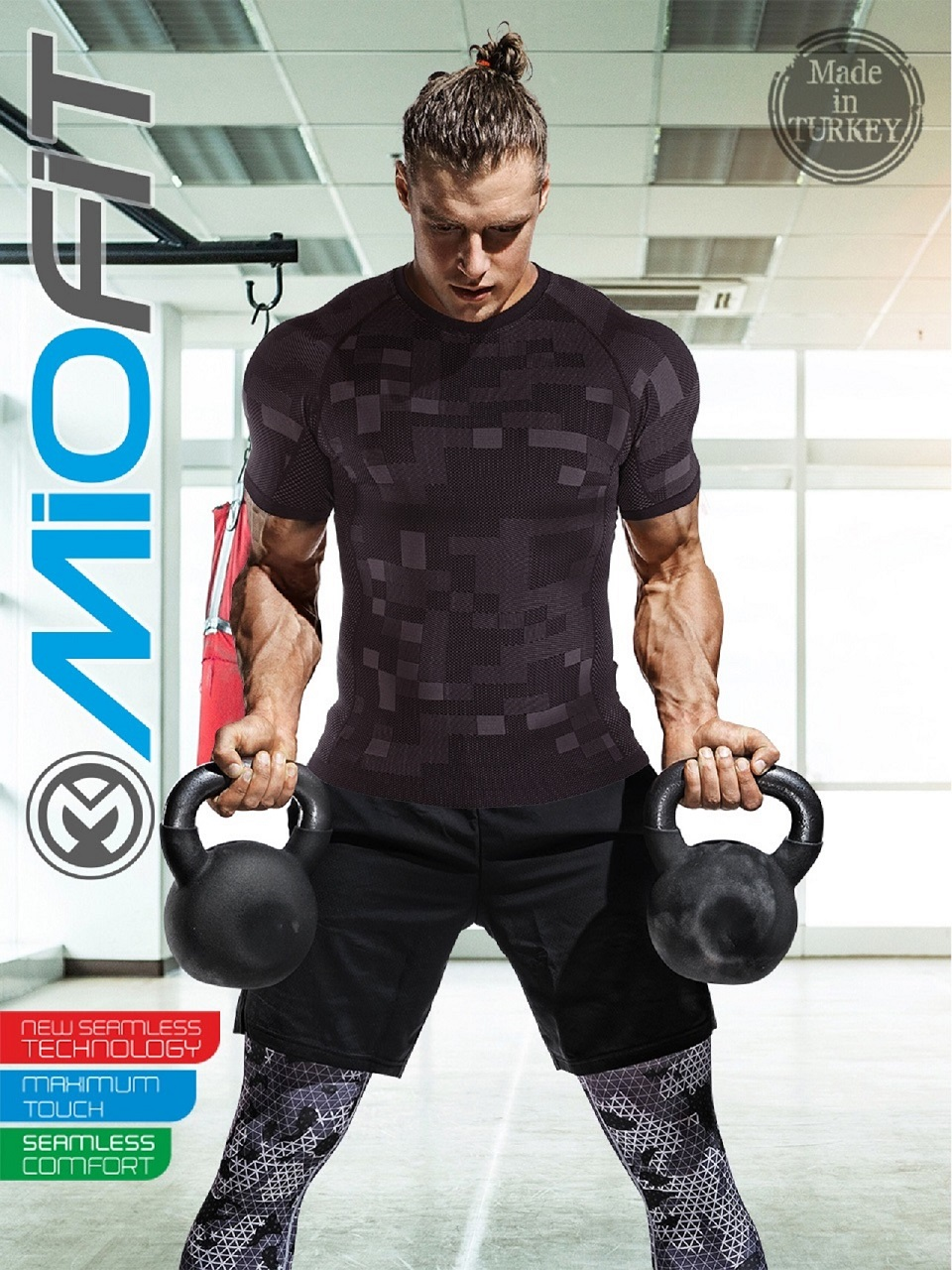 Seamless Fitness T-Shirt - Male Camouflage Tee - Men Sportswear Shirts For Traning Workout Gym And Running -Bodybuilding Tees