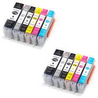 12 cartriges pgi570 PGI 570 cli5715-6 cli57110-15-20's refill Compatible for printer Model Pixma TS5050