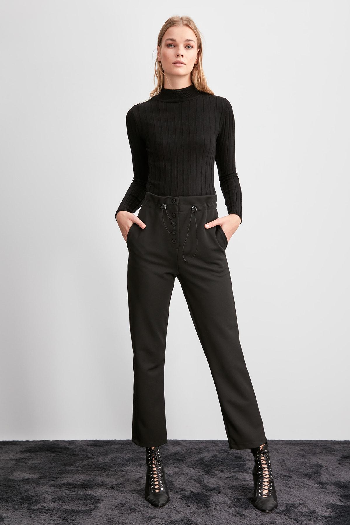 Trendyol Shir Detailed Knitting Pants TWOAW20PL0551