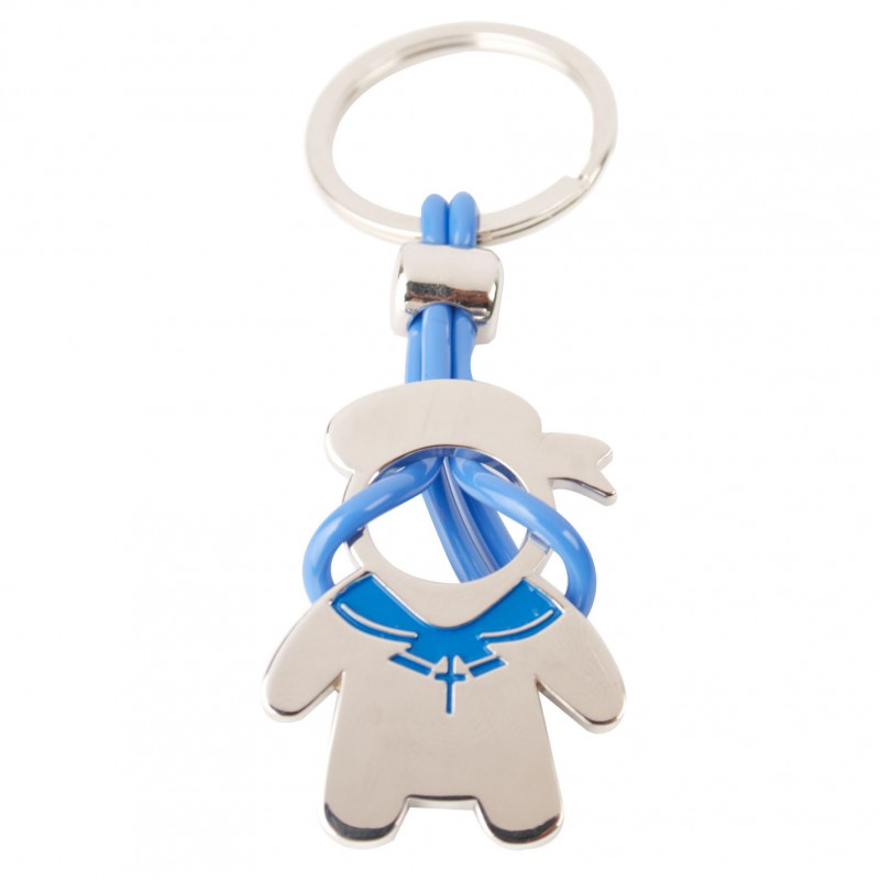 Keychain Comunion Boy-details And Gifts For Weddings, Christening Memories And Fellowship For Guests