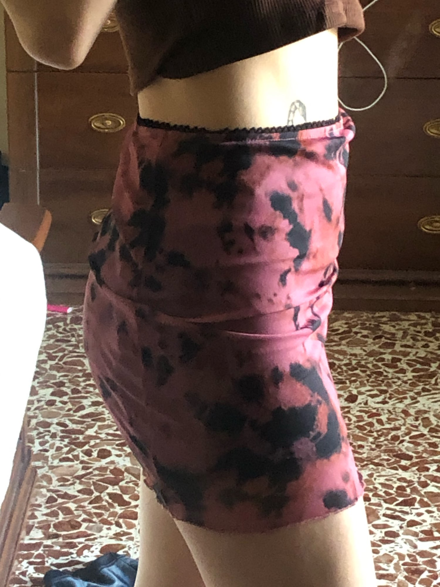 Y2K Aesthetics Mesh Double Layer Mini Skirt photo review