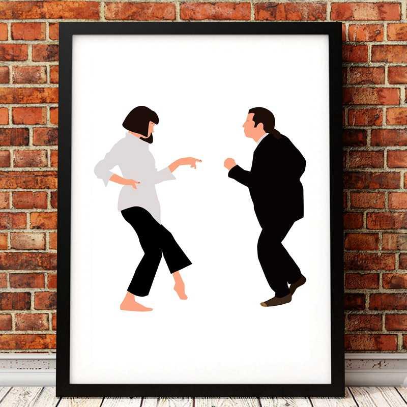 PULP FICTION Minimalist Movie Poster Posteritty Minimal Art Print Dance finger