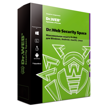 Dr.Web security space comprehensive protection license 1 pc for 12 months. (+ 3 months, promotion) lhw-bk-12m-1-a2