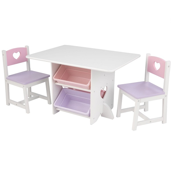 Set of children's furniture Heart (table + 2 chair + 4 box) brooklyn chair set of two