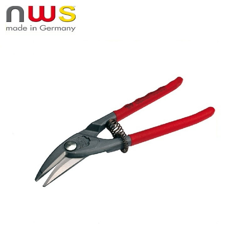 NWS Scissors for metal Curly left cutting edge, curly cutting of small radius 250 mm Sheet metal cutting Household tool