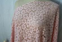 Beautiful Pink Lace Fabric With Cord Floral 59 Wide Sell By The Yard the yard