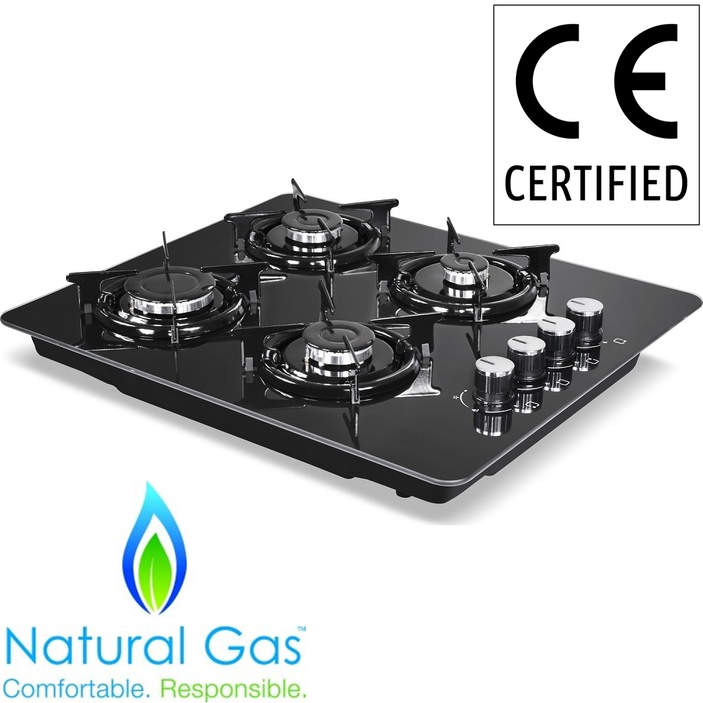BLACK GLASS NEW DESIGN Natural Gas Built-in 4 Burner Kitchen Cooktop Stoves Built In Hob Cooking Appliance Cookware Gas Cooker