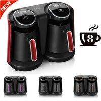 Arzum Okka Minio Duo 자동 터키 커피 메이커 기계  8 컵 용량 세척 가능 커피 포트  사운드 경고 시스템