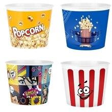 Пластиковое ведро для кукурузы, ведро для попкорна, кухонный органайзер для хранения 4 шт., кинотеатр для печенья