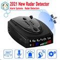 Новый Радарный автомобильный радар-детектор английский русский антирадарный детектор транспортное средство V7 скоростная сигнализация си...