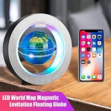 Globo LED de levitación magnética para niños, lámpara de noche giratoria con mapa del mundo, lámpara de mesa para decoración del hogar, novedad