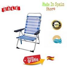 -Aktive 53956 Silla Plegable multiposición Aluminio Beach, 50x64x100 cm, Azul