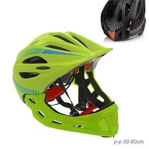 Casco protector de cara completa Barbilla y cara para bicicleta y scooter
