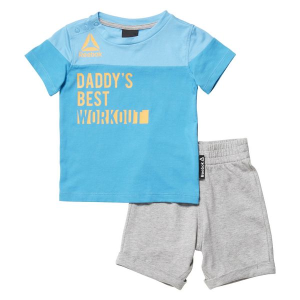 Sports Outfit For Baby Reebok G ES Inf SJ SS Blue Grey