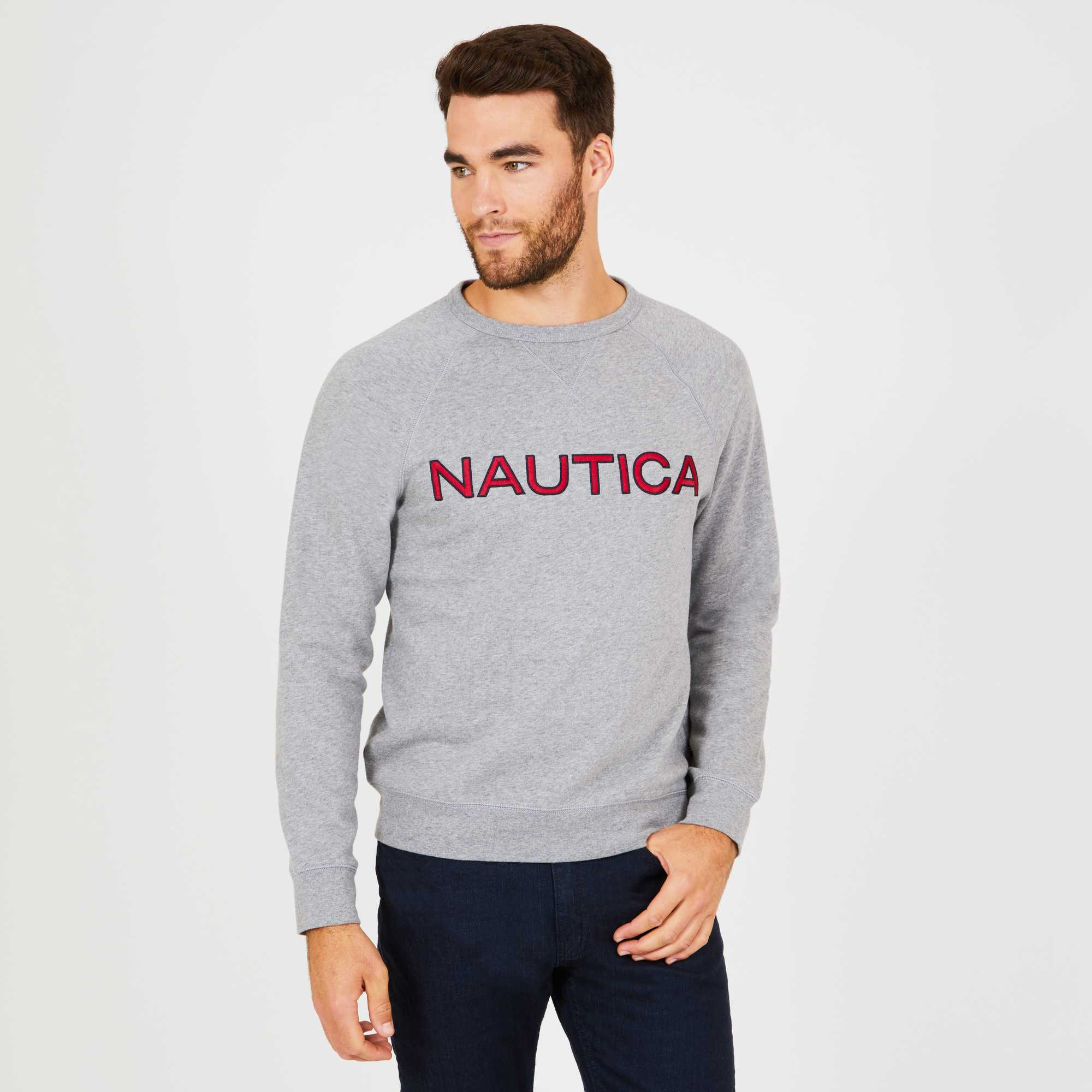 Nautica Jersey Men Chest Logo Cotton Grey K83171.0ZA