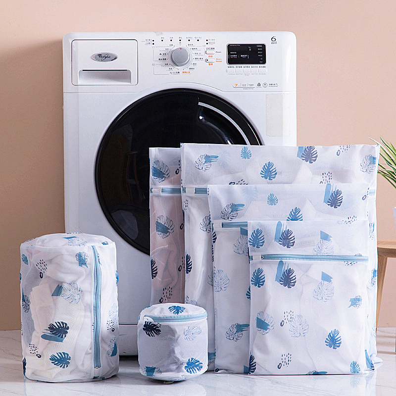 Printing Polyester Mesh Laundry Bag Home Use Washing Machine Bags Thickened Fine Net Bra Underwear Washing Bag Laundry Products