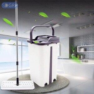 TG-Motors Автоматическая вращающаяся швабра, Избегайте мытья рук, ультратонкая Ткань для очистки, домашняя кухонная деревянная Швабра для лени...