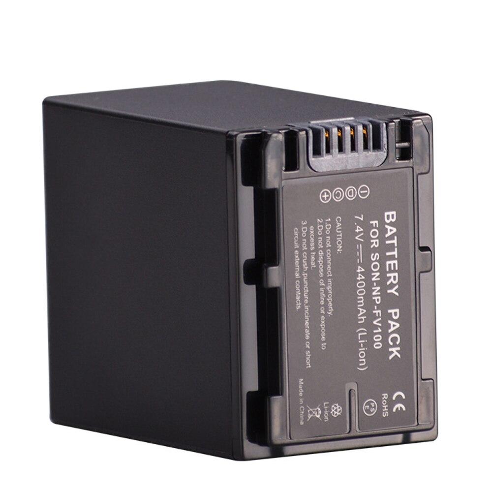 NP-FV100 Digital Camera Battery (4400mAh, 7.4V, Lithium-Ion)for Sony DCR-SR15 SX15 FDR-AX100 HDR-CX105 HC9 PJ10 TD20V XR150