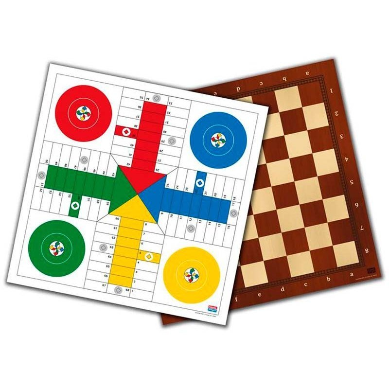 40 Cm Board. Parcheesi, Checkers And Chess