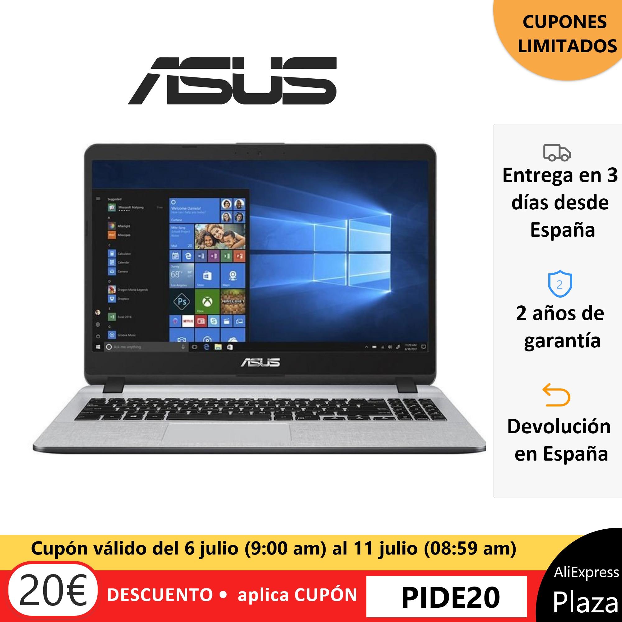 Laptop ASUS Laptop X507MA-BR418T, ORIGINAL, Old 2 Warranty, Square Spain, W10 Home, Intel Celeron N4000