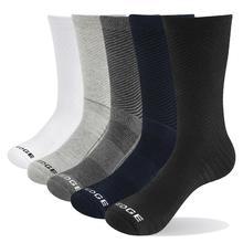 YUEDGE 5 Pairs erkek pamuklu iş Deodorant sıcak tutan çoraplar nefes erkek düz renk ekip çorap ab boyutu 38 47