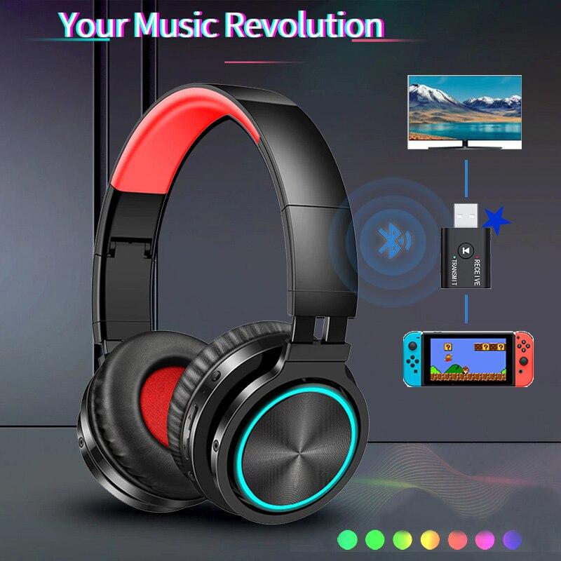 Беспроводные Bluetooth-наушники с микрофоном, гарнитура, игровой объемный звук, Bluetooth-передатчик, беспроводные наушники для PS4, для ТВ