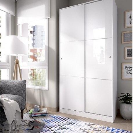 ตู้เสื้อผ้าตู้เสื้อผ้าประตูเลื่อน PLUS สไลด์ 100 ซม.กว้าง