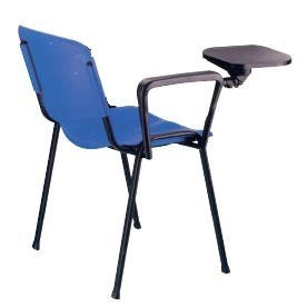 Chair NICE, Writing Tablet, Black Chassis, Seat. And Resp Plastic Lids (available 3 Colors)