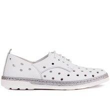 Sail Lakers Breathable หนังรองเท้าผู้หญิงฤดูร้อนรองเท้าผู้หญิง Causal รองเท้า Hole สบายรองเท้าผ้าใบรองเท้าแบนหญิง Basic รองเท้า Made in ตุรกี