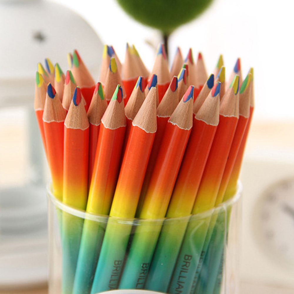 10pcs Rainbow Pencil Student School Stationery Supplies Kids Painting Pencils