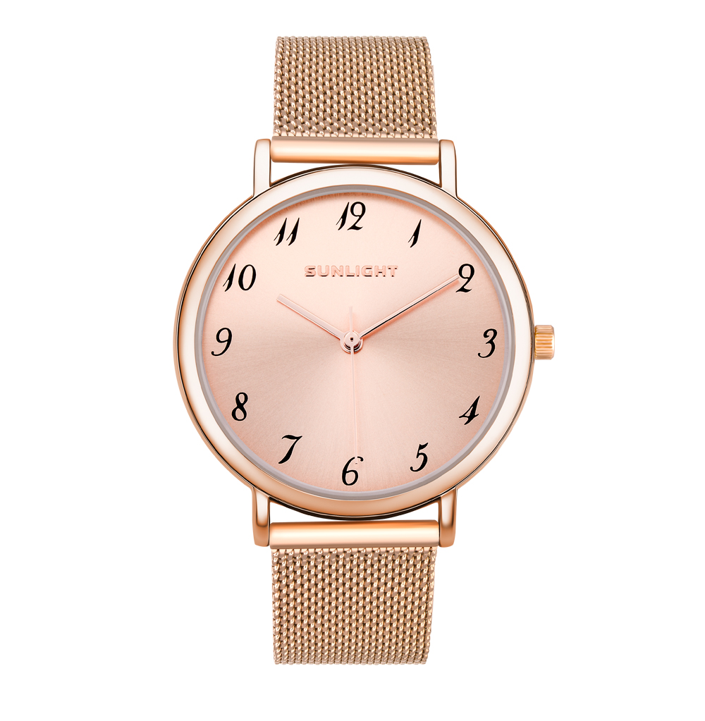 Classic Women's Watches On The Milan Sunlight Bracelet