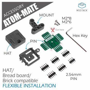 M5Stack Official ATOM MATE DIY Expansion Kit Adapter Board For Adapting M5StickC Hat Series Flexible Installation