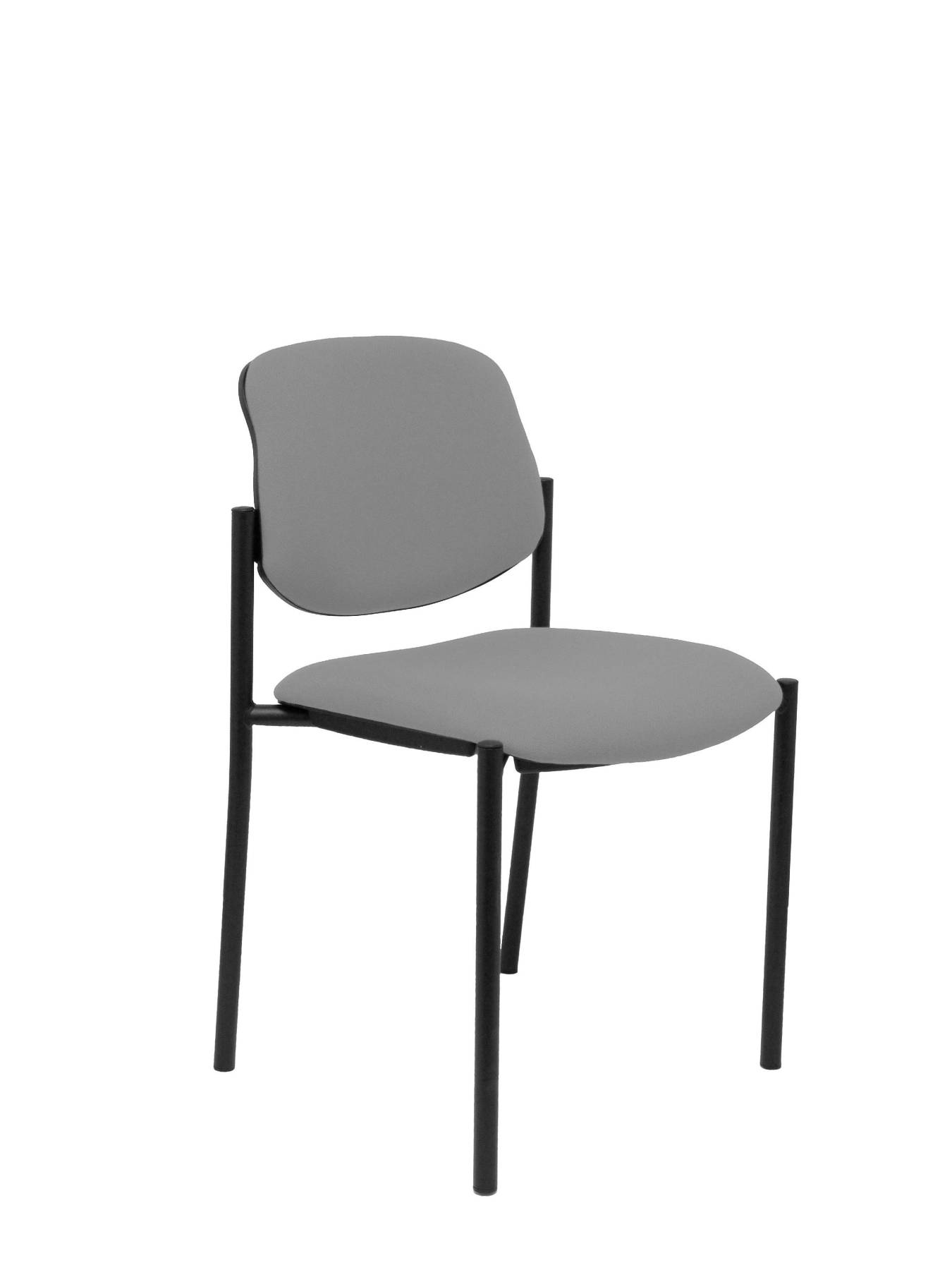 Visitor Chair 4's Topsy And Estructrua Negro-up Seat And Backstop Upholstered In BALI Tissue Gray Color TAPHOLE AND CRESP