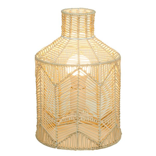 Desk Lamp Natural Ratan (21 X 21 X 31 Cm)