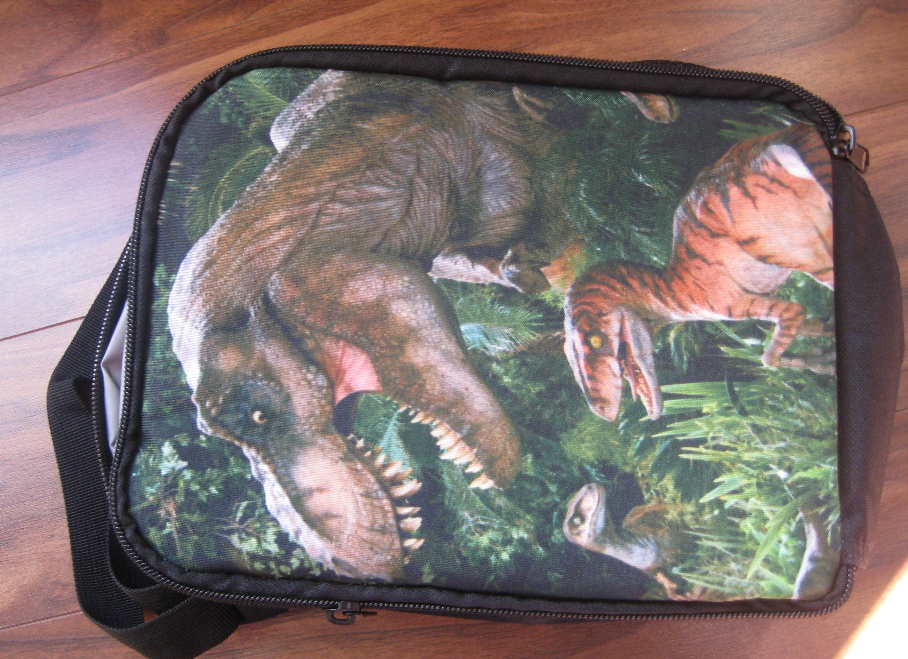 Universal Children Jurassic Worlds 2 Lunch Bag Movie Evolution Dlc Park Rectangular Lunch Tote Box For Boys Teenages Stdents New photo review