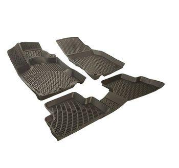 Rizline Nissan Navara After 2014 Compatible Rubber Car Floor Mats Vehicle Custom Auto Foot Pads Automobile Carpet Cover floor mats liner 4 5d molded black fits nissan qashqai 2014 rubber floor mats