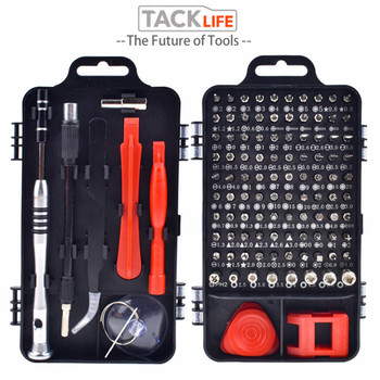 TACKLIFE 110 in 1 Multi Screwdriver Set With 98 Precision Bit Hand Tool Screwdrivers For Computer PC Mobile Phone Repair Tools 31 in 1 precision screwdrivers toolkit black yellow