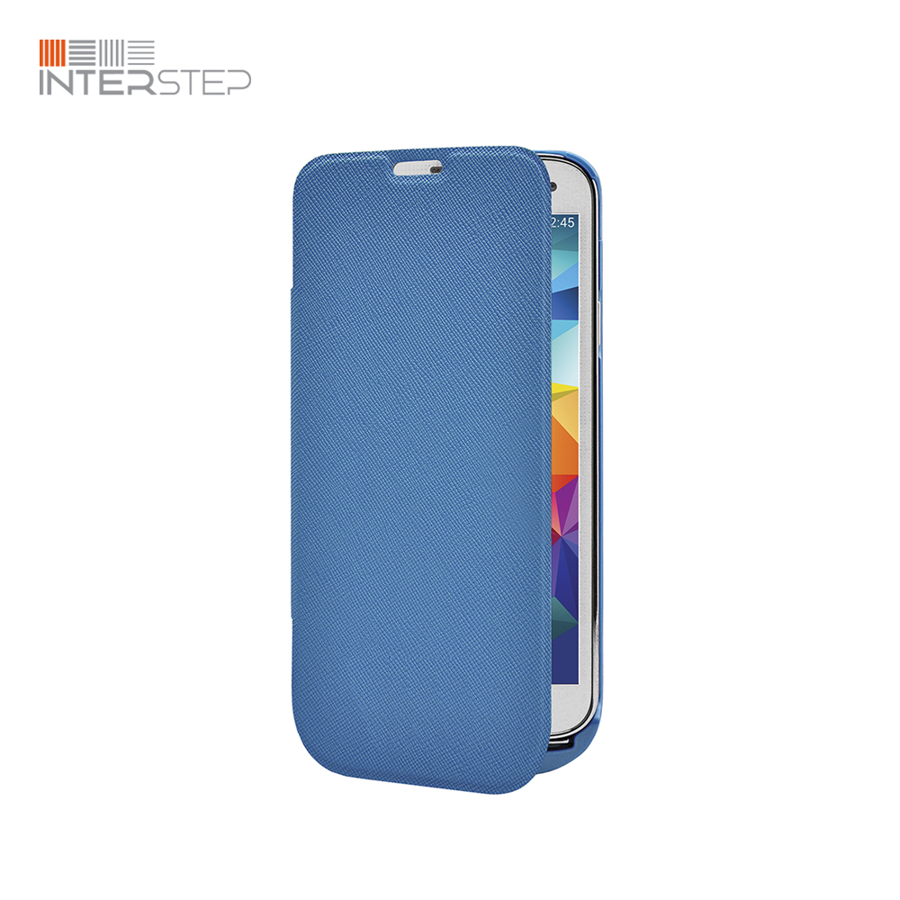 Case battery INTERSTEP For Samsung Galaxy S5, 2800 mAh, Blue thicken 3 8v 7800mah li ion battery protective plastic back case for samsung galaxy s5 i9600