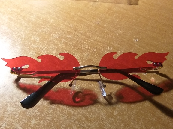 Rimless Flame Sun Glasses photo review