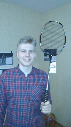 Raquetes de Badminton Carbono Apertos Pulseira
