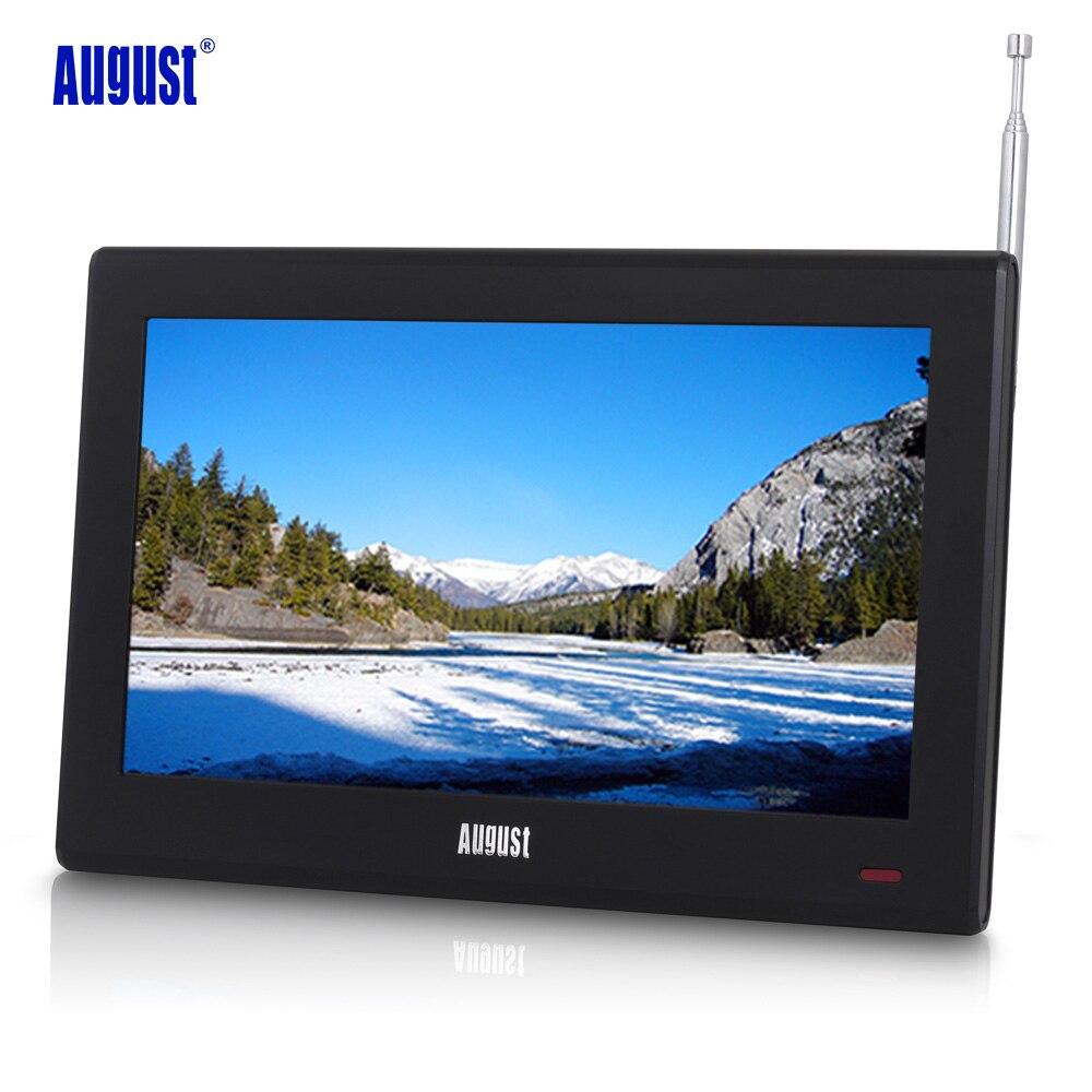 Agosto da100d 10 polegada tv portátil com freeview digital lcd televisão para o carro, cozinha, ao lado da mesa tv digital para dvb-t/DVB-T2