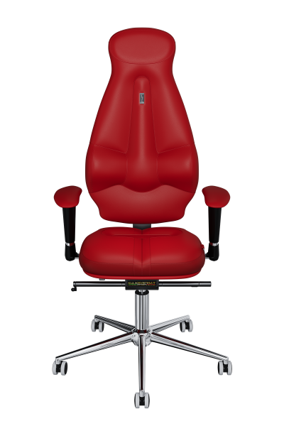 Office Chair KULIK SYSTEM GALAXY Red Computer Chair Relief And Comfort For The Back 5 Zones Control Spine