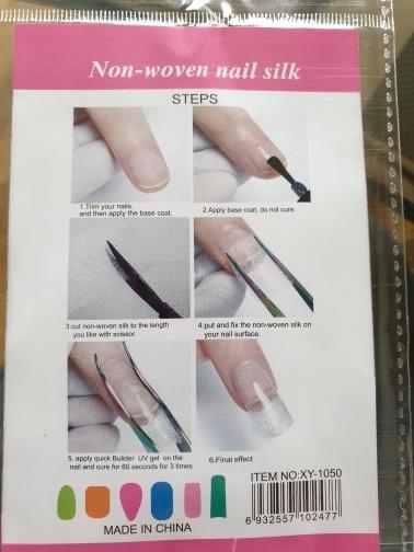 Non-Woven Nail Silk (10Pcs/Pack) photo review