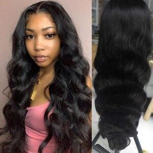 Image 3 - Парик женский из натуральных волос, 30/32 дюйма, 360 HD