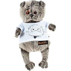 Мягкая игрушка Budi Basa Кот Басик в футболке с принтом Мордочка