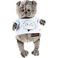 Soft toy Budi Basa Cat Basik in T shirt with print Мордочка