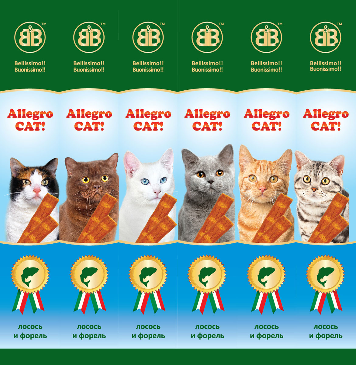 Allegro Cat Sausages For Cats, Salmon And Trout, 1 PCs