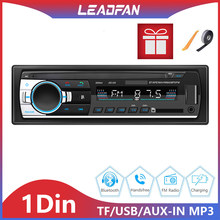 1 Din Car Radio Stereo Player MP3 Autoradio Car Audio Player with Bluetooth Remote Control USB AUX FM