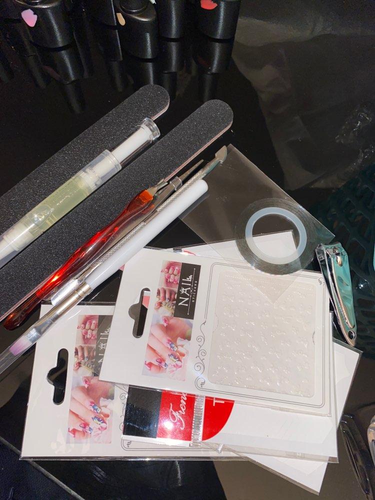 Kit de manucure pour Nail Art, avec ensemble de vernis